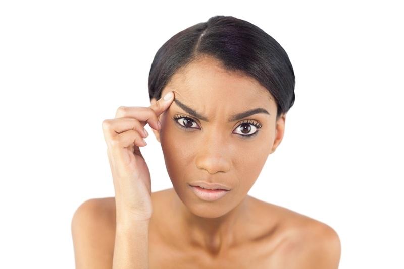 Over-plucking can lead to thin eyebrows which don't grow back.